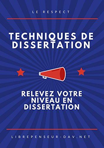 Couverture du livre TECHNIQUE DE DISSERTATION: relevez le niveau en dissertation