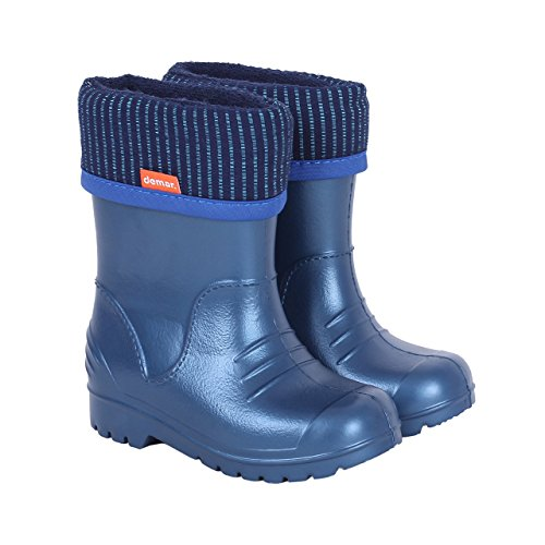 Demar Kids Boys Girls Wellington Boots Rain Snow Wellies Navy