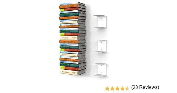 con 6 scomparti invisibili per mettere i libri in pila altezza:fino a 150 cm per libri con profondit/à fino a 30 cm home3000-3 Mensole libreria grande colore: Bianco