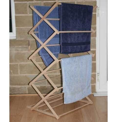 Amazing clásico tradicional tendedero plegable madera