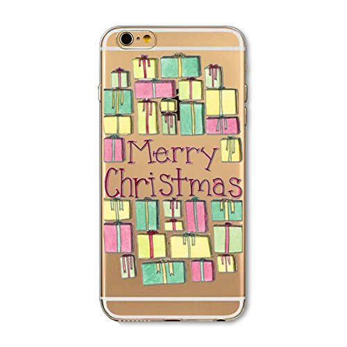 iPhone 6 / iPhone 6s Hülle, FindaGift Weihnachten Serie Ultra dünn Stoßfest Weiches TPU Telefon zurück Kasten Deckung Schutz Shockproof Case per iPhone 6 / iPhone 6s (Santa Claus) Christmas Presents