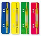 ELBA 100560280 Einhänge-Heftstreifen 250 Stück aus PP-Kunststoff Deckleiste aus Metall farbig sortiert