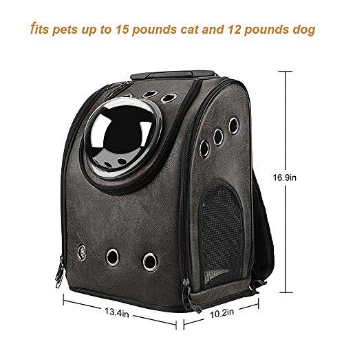 Imagen de texsens burbuja  pet carriers innovadores de viajero viajes aéreos aprobados transportista conmutable panel de malla para gatos y perros one size negro  alternativa