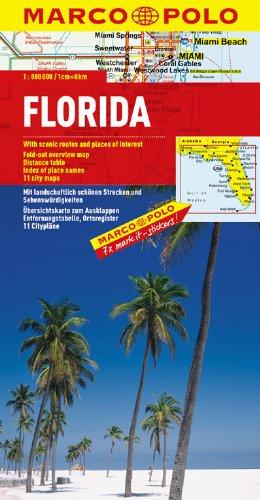 MARCO POLO Kontinentalkarte Florida 1:800.000 (MARCO POLO Länderkarten) (Palm Beach Karte)