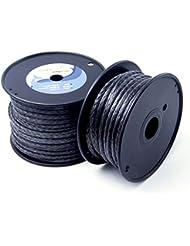 emmakites 2200~ 7700lbs 100% de polietileno trenzado de uhwmpe–Bobina de cuerda resistente Cable de bajo elástico–Utilidad kitesurf KITE cadena para al aire libre navegación pesca, 7700lbs 15Meter/50ft