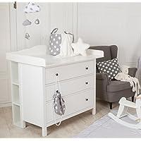 Puckdaddy Stauraumregal, Wickelregal für IKEA Hemnes Kommoden
