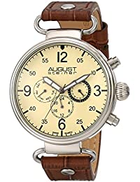 August Steiner Reloj Pantalla analógica cuarzo suizo Marrón para Hombre