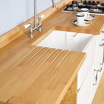 Solid Beech Timber Block Worktops 3000mm x 620mm x 40mm