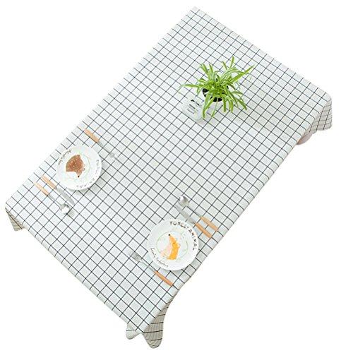 Winomo tovaglia rettangolare rettangolo resistente all'acqua antimacchia resistente alla muffa coprivaso da tavolo 137x200cm