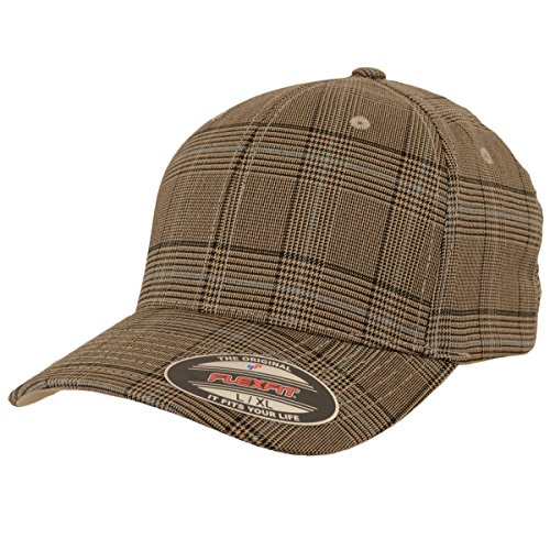 Flexfit Karo Cap Glen Check brown khaki - L/XL