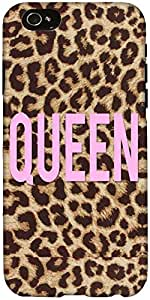 Snoogg Queen Leopard Print Case Cover For Apple Iphone 6+
