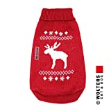 Wolters Strickpullover Elch Hunde Pullover Hundbekleidung rot