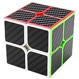 coolzon Zauberwürfel 2x2x2 Speed Cube Würfel Carbon Faser Aufkleber Neue Geschwindigkeits Super Schnell und Glatt