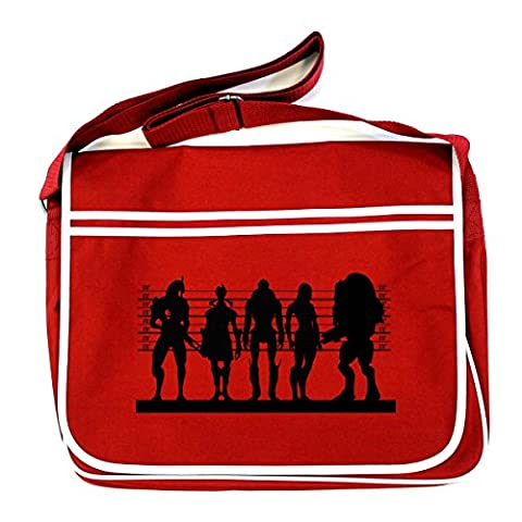 MASS EFFECT: ME SUSPECTS Retro Messenger Bag (One Size Fits All/Red)
