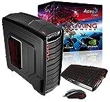Aerocool Aero clanoc Desktop-PC (Intel i5–4690K, PB Z97, 1866MHz, 8GB RAM, 1TB Festplatte, SSD 120GB 550MB/s, VGA GTX970, DVD Brenner)