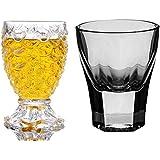 King International 100% Crystal 1 Cube Shot Glass & 1 Pineapple Shot Glass|Set Of 2|30 Ml