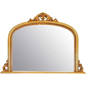 0449b0b1c9176 Classic French Inspired METALLIC GOLD Overmantle Mirror With Elegant Ornate  Frame complete with Premium Quality Pilkington s Glass - Overall Height 36  ...