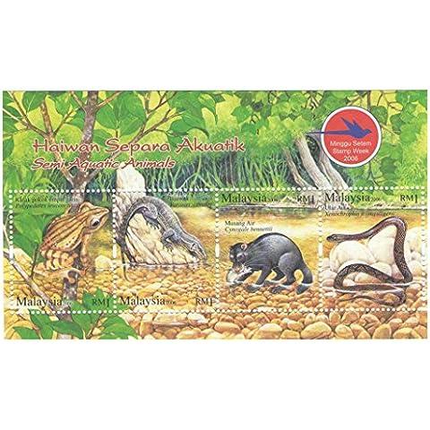 Sellos de colección - Haiwan Separa Akuatik Semi- Animales Acuáticos de 2006 / SG1114 / 4 sellos / MNH / Malasia