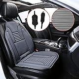 Samber Beheizbare Auto Sitzauflage, 12V Autositz Heizkissen Heizbare Sitzkissen Winter Warm Autositzauflage mit Temperaturregler