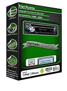 Fiat Punto de lecteur CD et stéréo de voiture Kenwood KDC - 4057ub AUX MP3 et kit USB, radio