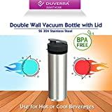 DUVERRA Powerful Nutri Fresh Personal Blender and Smoothie Maker with High-Grade Rust Proof Stainless Steel Double Wall Vacuum Bottle and BPA-Free Virgin Tritan Bottle (Black)