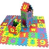 Lalang Tapis de jeu en mousse souple pour enfants puzzle tapis lettres/chiffres