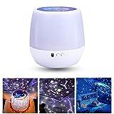 KOBWA Universe Star Night Light Projector for Children, 6 Set di Temi - Oceano, Compleanno, Luna, Costellazione, Cielo Stellato, Universo, Bel Regalo per Bambini
