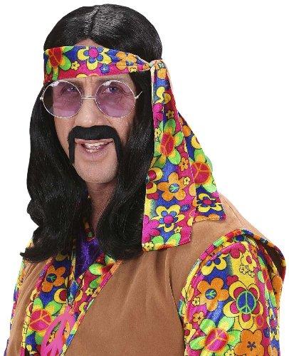 Perücke Hippie Dude (Perücke Hippie Erwachsene Schwarze)