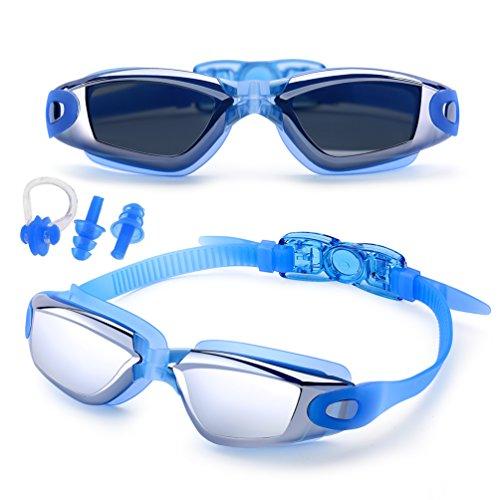 c7574e54ae Feilan Gafas de natación,Gafas para Nadar Antiempañado y Anti Rayos UV para  Hombres Mujeres