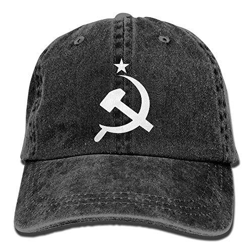 Walnut Cake Hüte,Kappen Mützen Baseball Jeans Cap Russian CCCP Hammer Unisex Baseball Cap Adjustable Dad Hat (Cccp Hat)