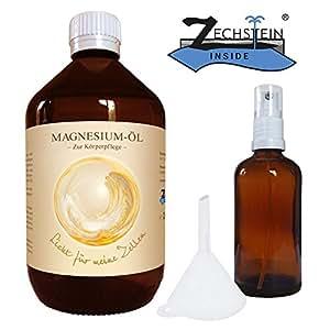 Zechstein MagnesiumÖl 1000ml inklusiv Sprühflasche aus Glas 100ml