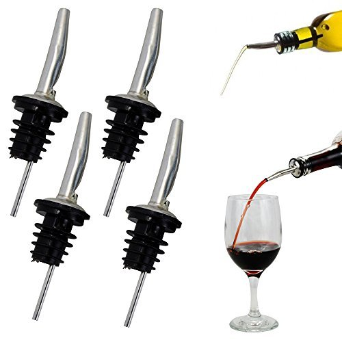 holyhigh vertedor de acero inoxidable con ventilación de flujo libre dispensador de vino botella de licor boquilla–por holyhigh