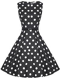 Zarlena Damen Vintage Rockabilly Kleid Petticoat Cocktailkleid