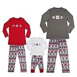Goosuny Weihnachten Hausbekleidung Damen Herren Kinder Jungen Mädchen Schneeflocke  Drucken Familie Set, Christmas Indoor Langarm Pullover Shirt ... f255141ebb