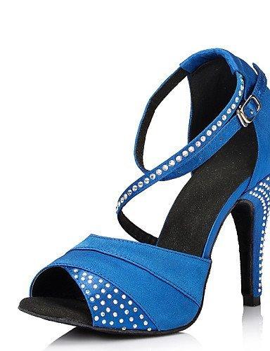 ShangYi Keine Maßfertigung möglich - Stöckelabsatz - Leder / Lackleder - Lateintanz - Damen Blue