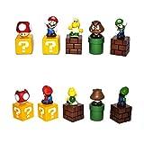 Super Mario Bros Goomba Luigi 5cm PVC Juguete Figuras