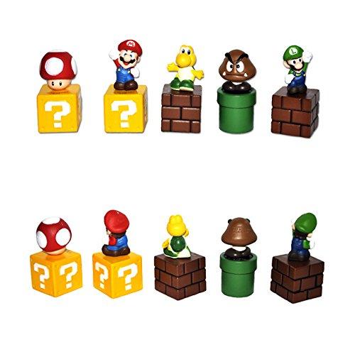 Super Mario Bros Goomba Luigi 5cm PVC Figuarts Personaggi e Action Figure (5 pezzo/set)