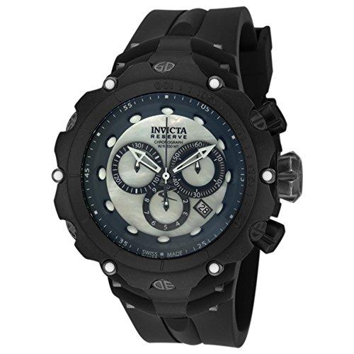 Invicta Venom Herren-Armbanduhr 52MM Armband Silikon Schwarz Batterie 18454 (Männer Venom Uhren Invicta Für)