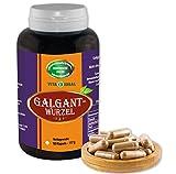 Galgant Wurzel 180 Kapseln je 550mg ohne Zusatzstoffe
