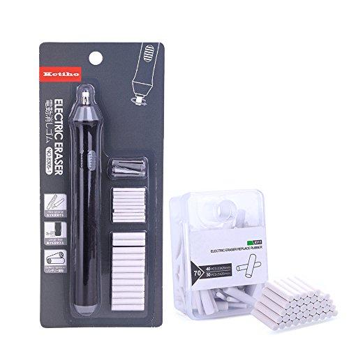 Kciline Kit de borrador eléctrico/gomas de borrar para niños lápiz borrador automático...