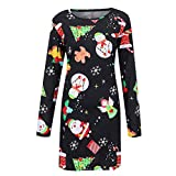 MRULIC Damen Blusenkleid Abendkleid Knielang Kleider Weihnachts Winterrock Festliches Kleid Mehrfarbig Verfügbar Schön Neujahr Herbst und Winter Kleid(K-Grün,EU-38/CN-L)