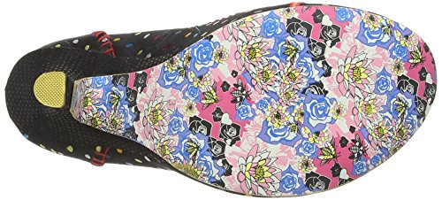 Irregular Choice Scottie Damen Pumps Noir (Black/Multi)
