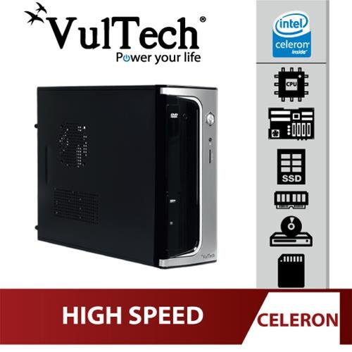 Pc Desktop Micro Vultech Celeron G1610 4Gb SSD...
