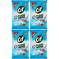 Cif Antibacterial Floor Wipes (Ocean Fresh) 4 x 15 Pack (Total 60 Large Wipes)