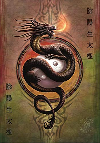 Yin-yang-stoff (Heart Rock Licensed Flagge Anne Stokes - Yin Yang Protector, Stoff, Mehrfarbig, 110 x 75 x 0,1 cm)