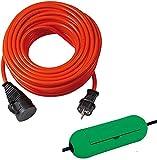 Brennenstuhl Bremaxx Verlängerungskabel IP44 25m orange, 1161600 + SafeBox grün