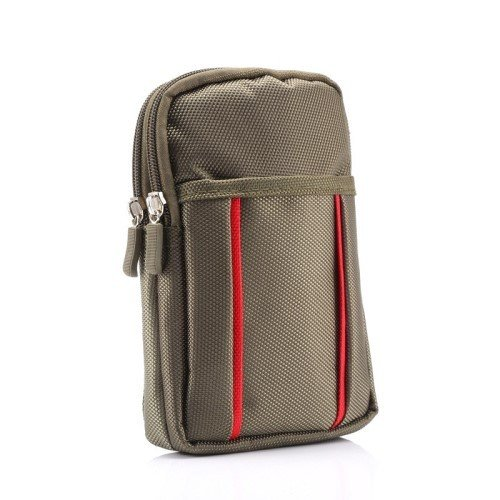 �rteltasche für Smartphone Geldbörse Papiere UVM. #UG10 - Handy-Tasche Case, Farbe:Oliv-Grün ()