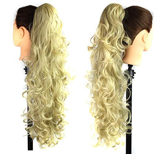 (Perücken Damen, Langes lockiges Haar, Klaue clip lockiges wellig haar pferdeschwanz,Lange Clip-in Curly Claw Jaw Pferdeschwanz Clip in Haarverlängerungen wellig Haarteil)