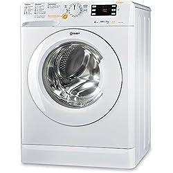 Indesit XWDE 961480X W FR Autonome Charge avant A Blanc machine à laver avec sèche linge - Machines à laver avec sèche linge (Charge avant, Autonome, Blanc, Gauche, boutons, Rotatif, Acier inoxydable)