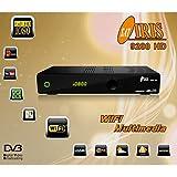Iris 9200 - Receptor de TV por satélite (WiFi, HDMI, DVB-S2 Full HD) color negro